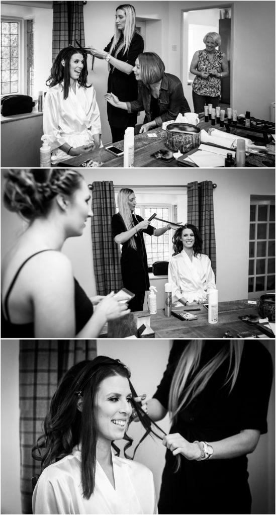yorkshire wedding photographer - bride getting ready