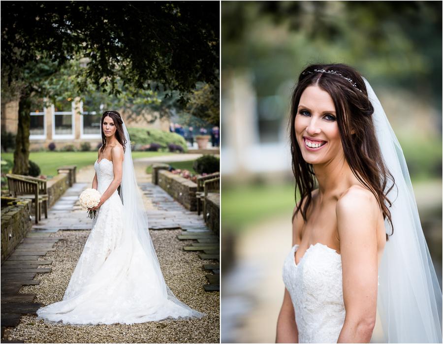 Bowcliffe Hall bride portraits