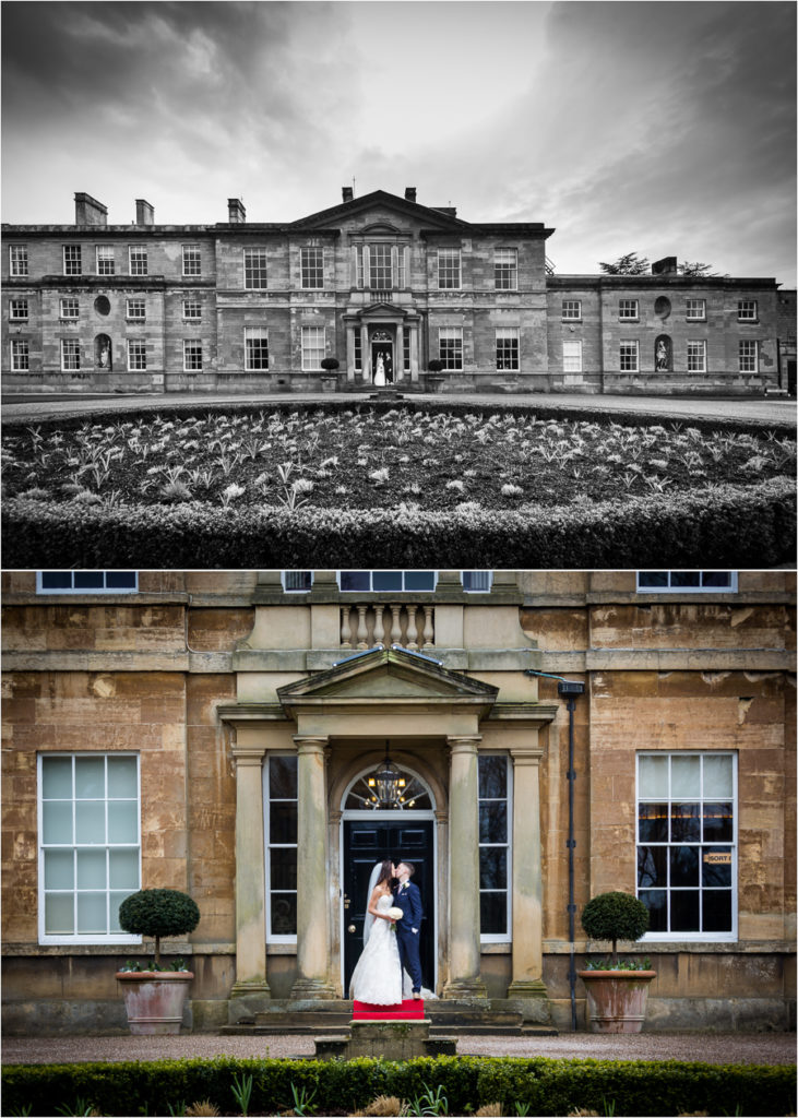 Bowcliffe Hall bride and groom