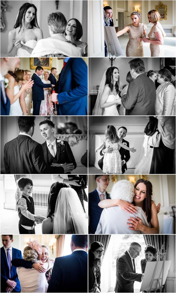 yorkshire wedding photographer - receiving line