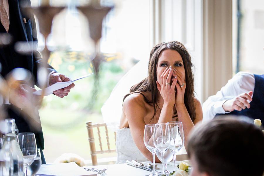 bride at the wedding breakfast