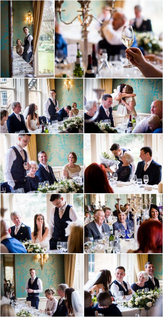 yorkshire wedding photographer - wedding breakfast at bowcliffe hall
