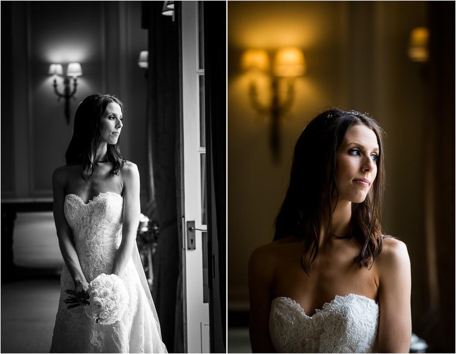 Bridal portraits at Bowcliffe Hall