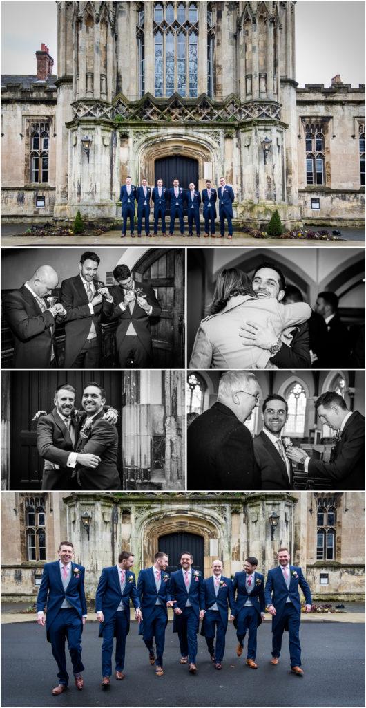 yorkshire wedding photographer - groomsmen at the chapel