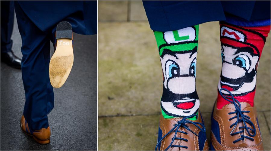 yorkshire wedding photographer - grooms socks