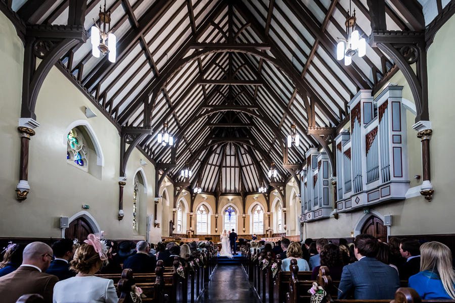 yorkshire wedding photographer - view inside the chapel