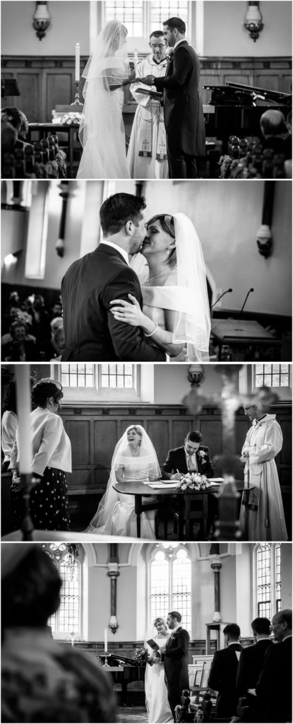 yorkshire wedding photographer - bride and groom kissing