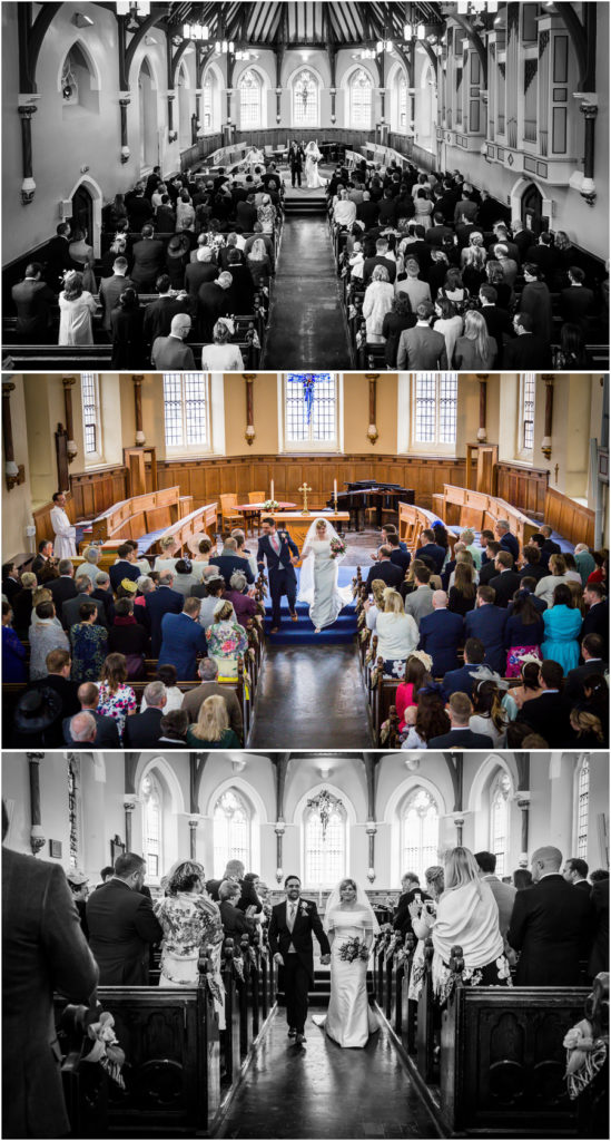 yorkshire wedding photographer - bride and groom leaving the church