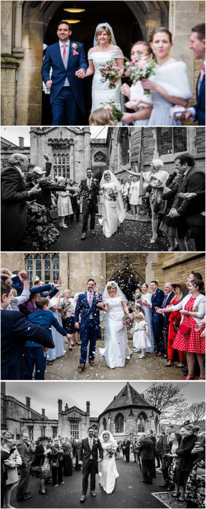 yorkshire wedding photographer - confetti throwing
