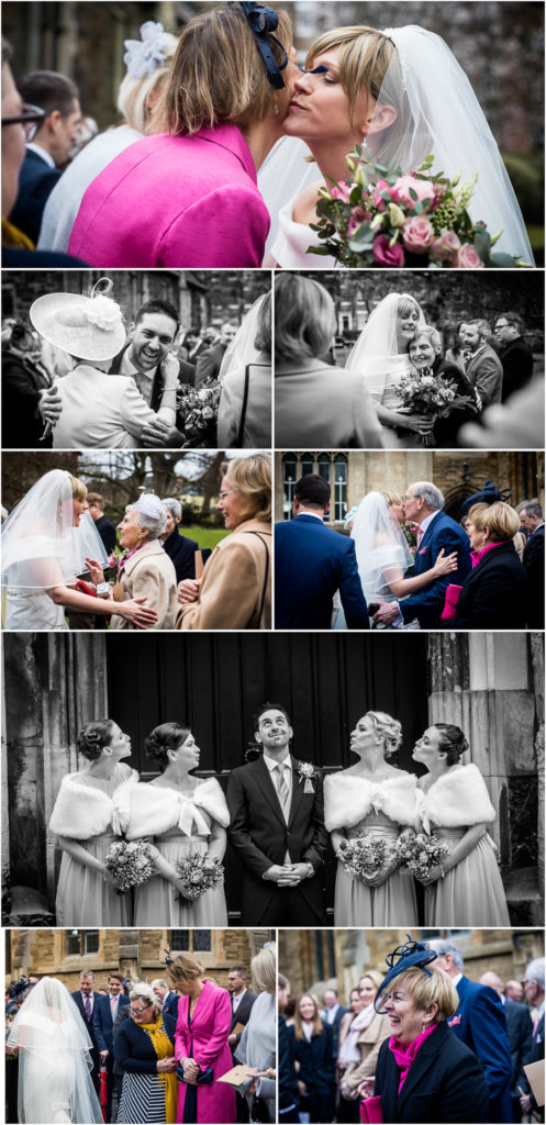 yorkshire wedding photographer - guests greeting the couple