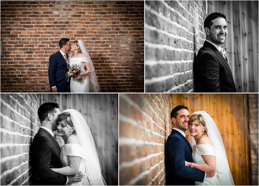 yorkshire wedding photographer - couple portraits inside Barmbyfields