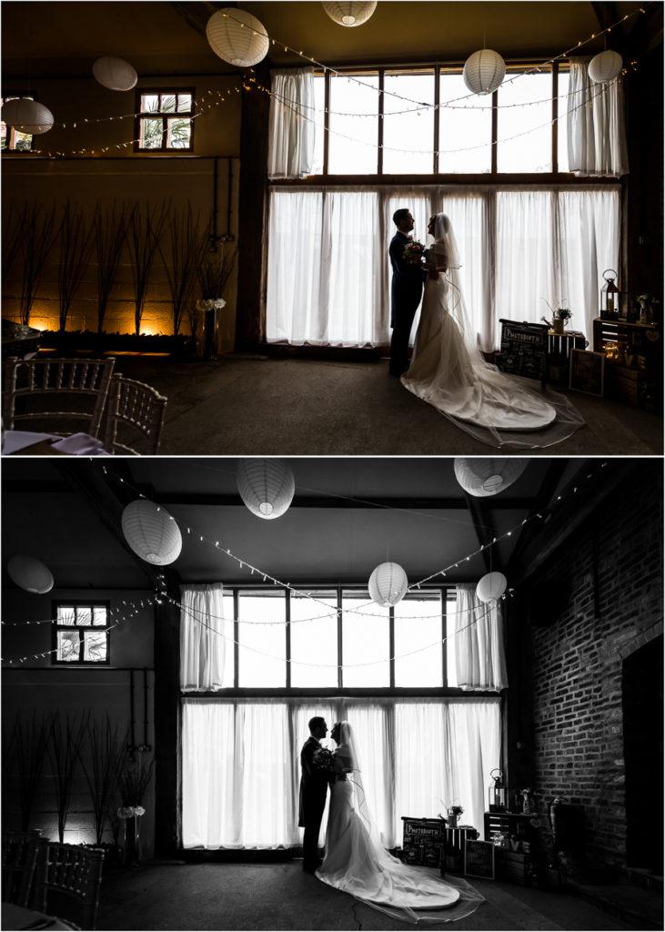 yorkshire wedding photographer - couple silhouette portraits