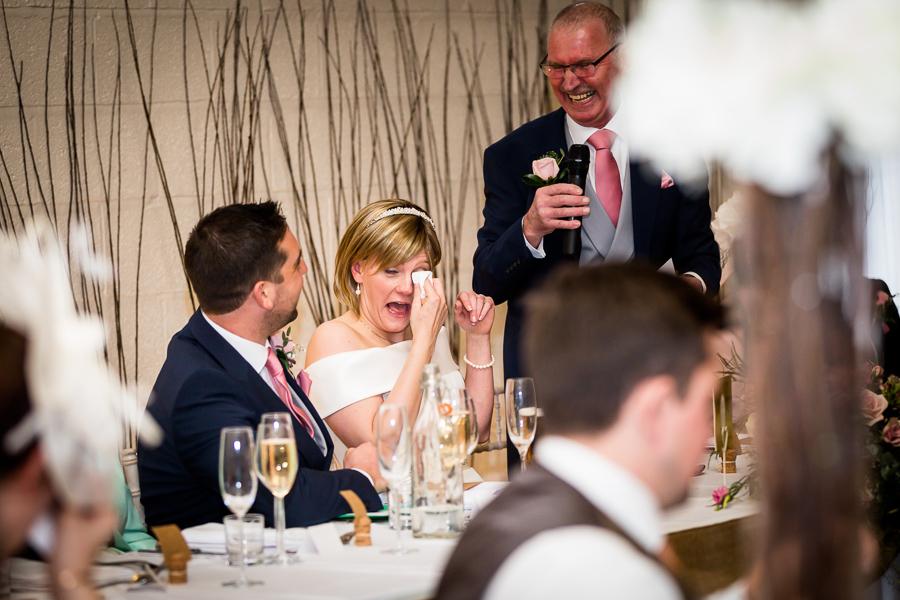 yorkshire wedding photographer - brides tears