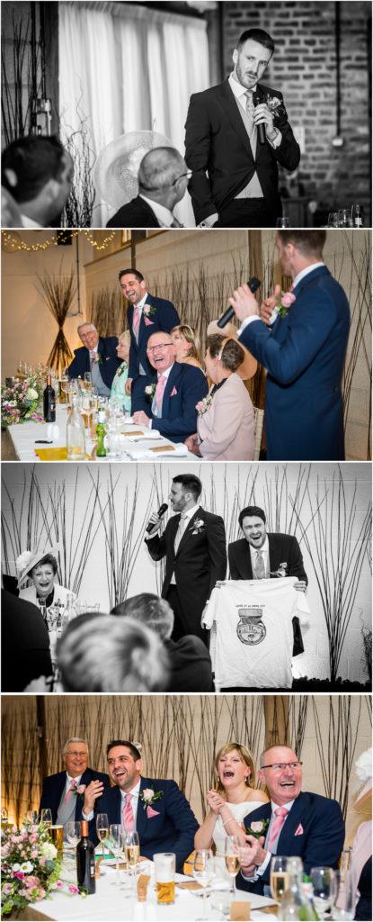 yorkshire wedding photographer - best mans speech