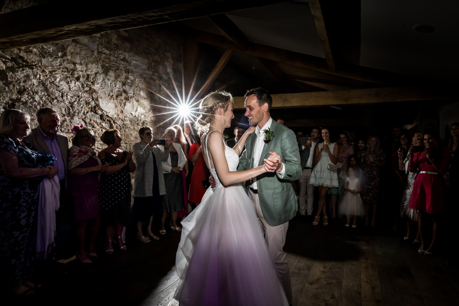 Middleton Lodge Wedding Photography - bride and grooms first dance