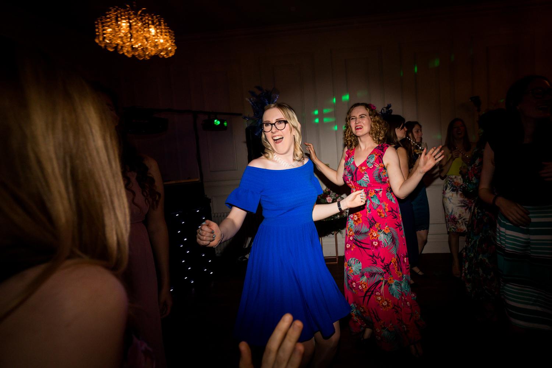 Girl in Blue Dress Dancing