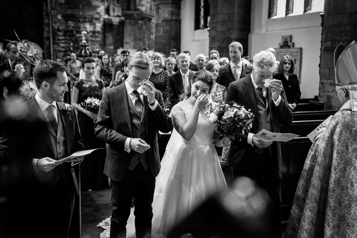 Principal Hotel York Wedding Photographer - a few tears during the ceremony