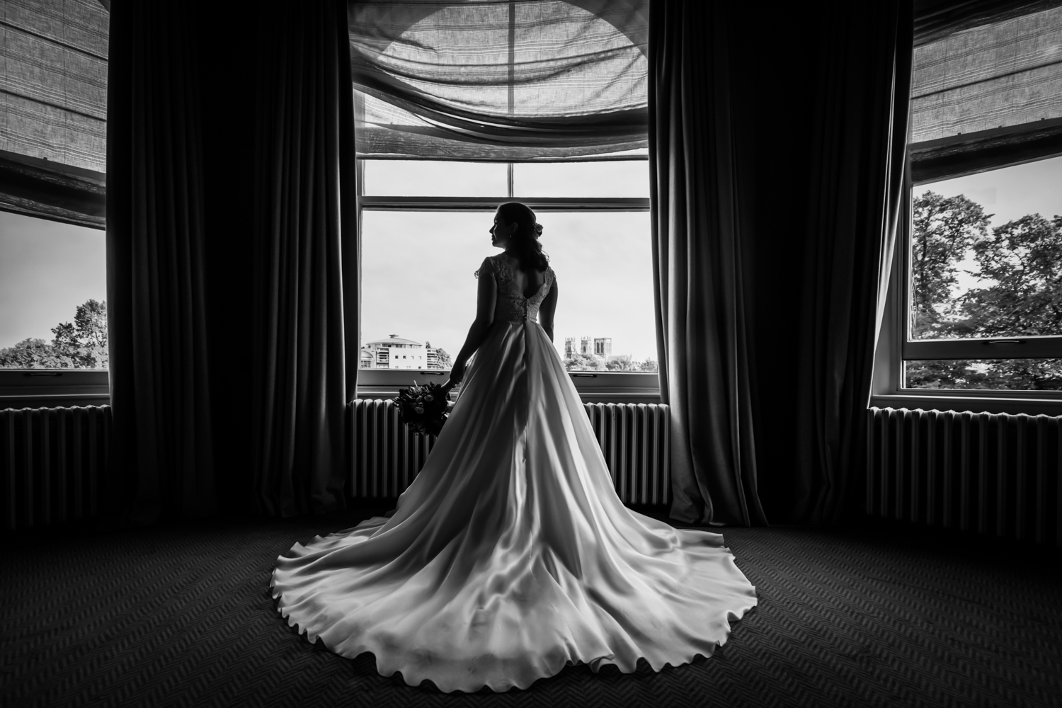 Principal Hotel York Wedding Photographer - bride portrait