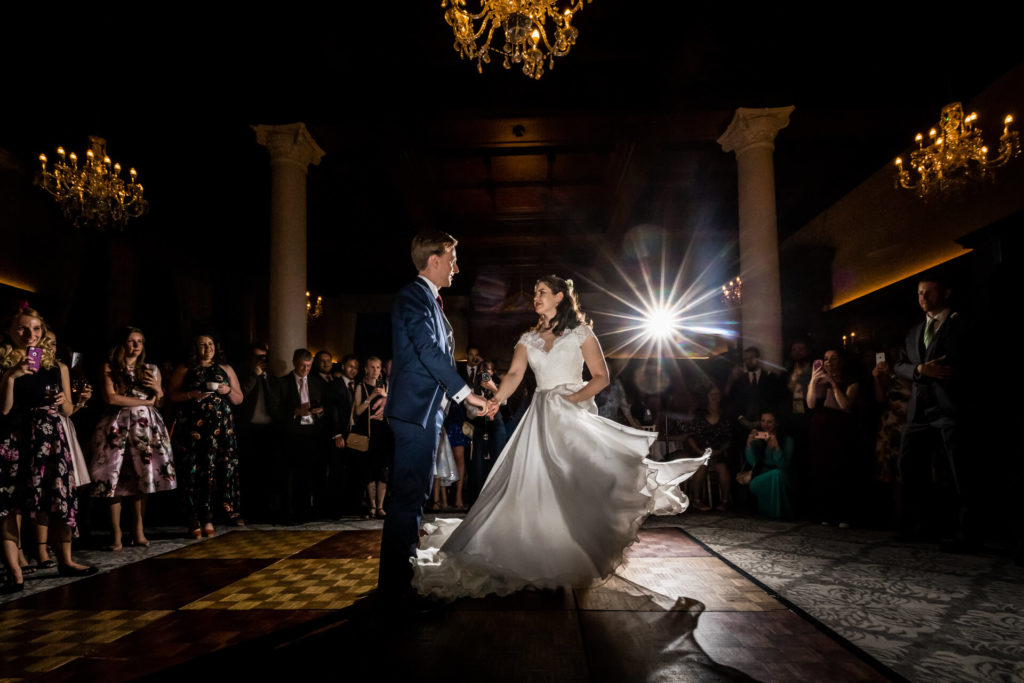 bride and groom's first dance at the Principal hotel in York