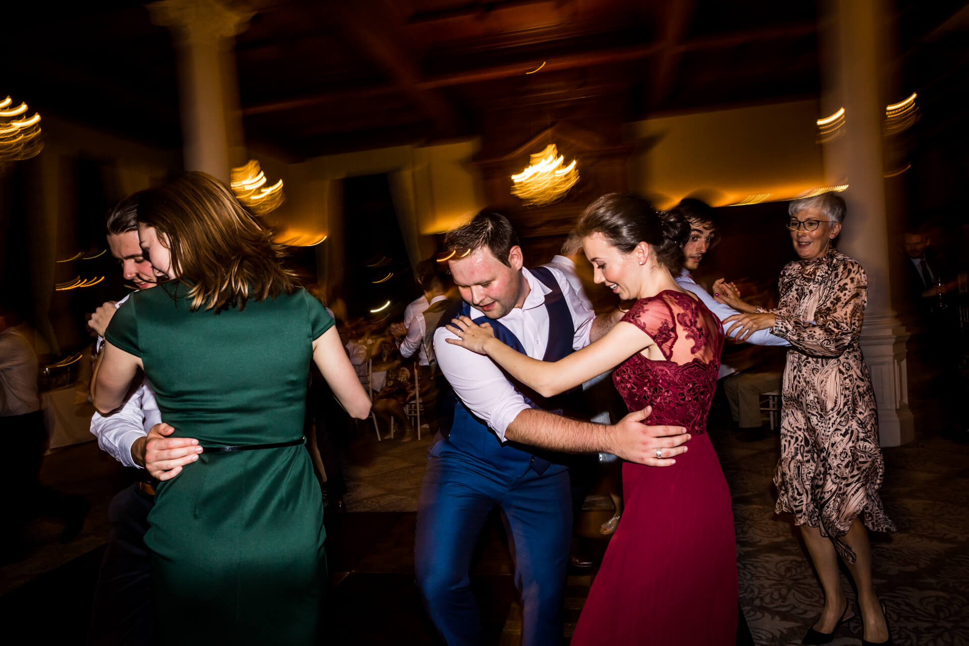 guests dancing in a circle