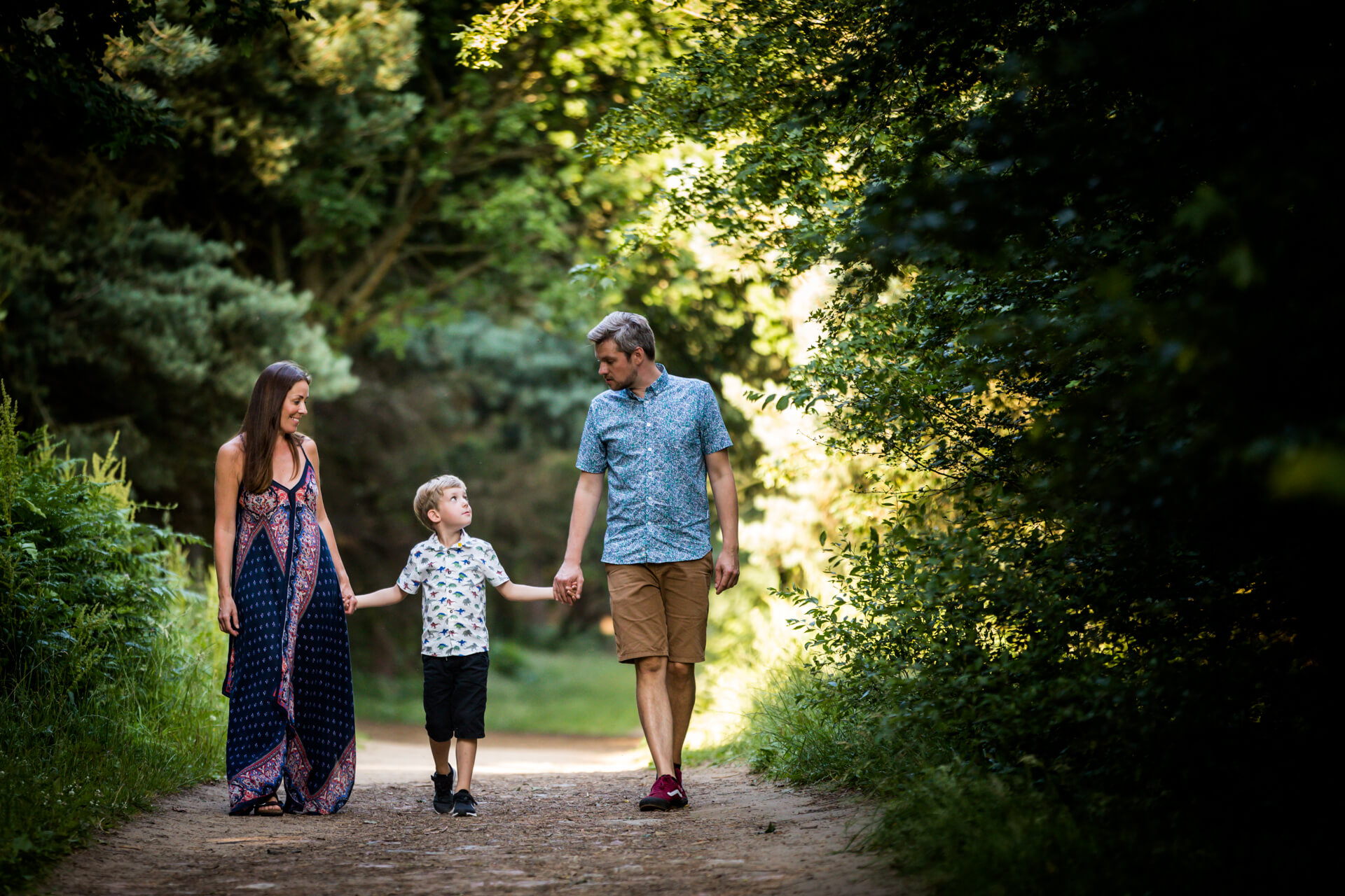 family walking together in a yorkshire park