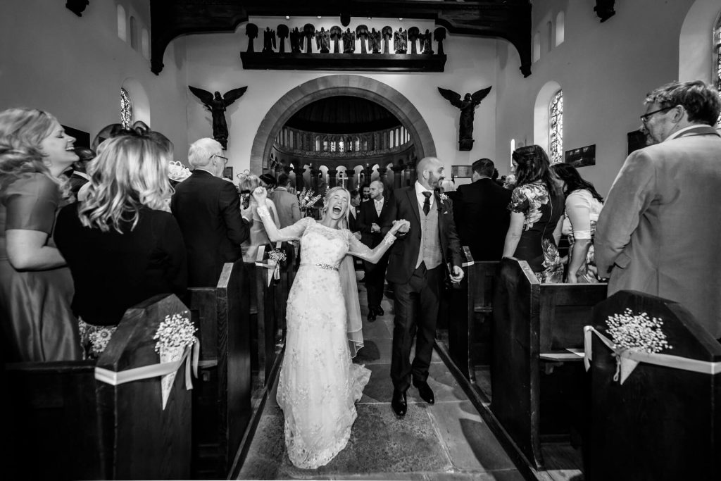 Lake District Photography- Couple leaving the church