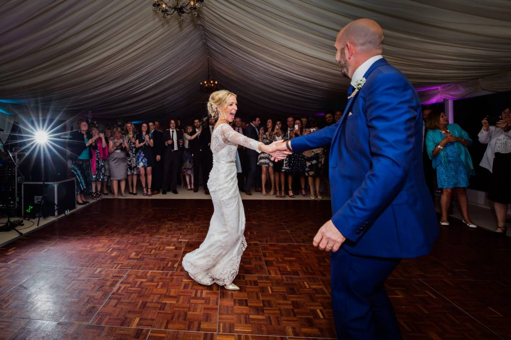 Wedding in the lake district - couples first dance