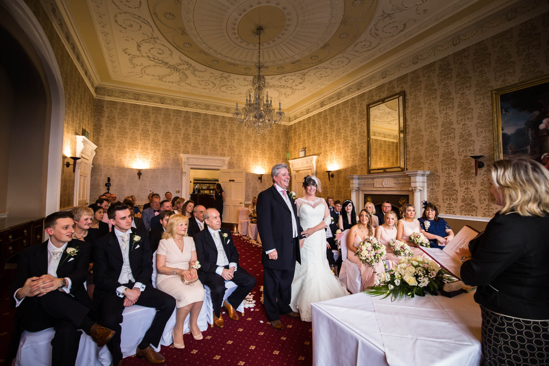 Wedding ceremony at Hazlewood Castle