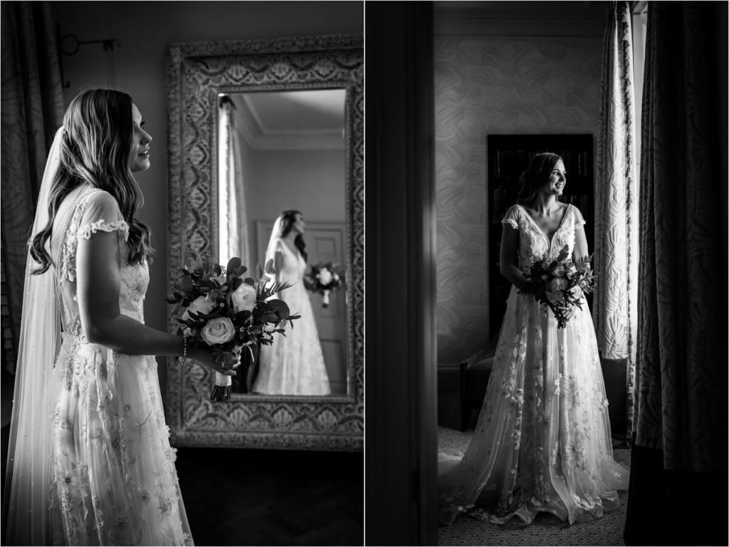 portraits of the bride at Saltmarshe Hall