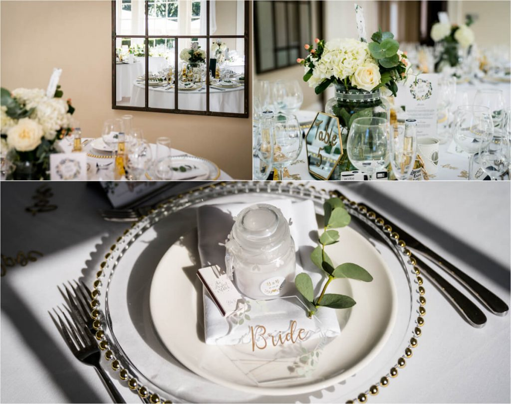 details of the wedding breakfast room