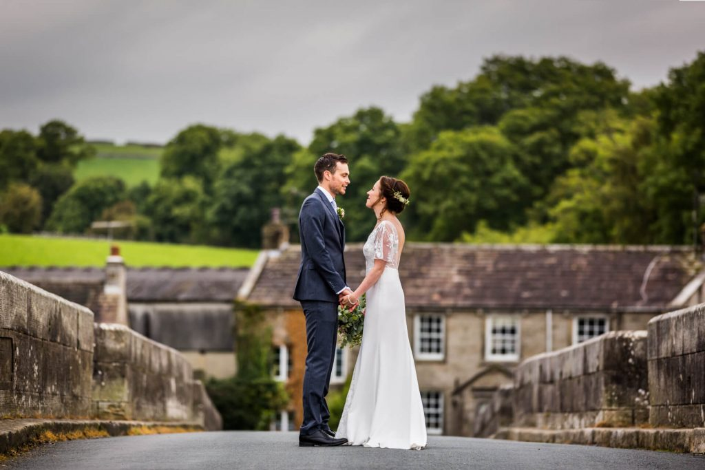 Bride and groom portrait in the yorkshire dales