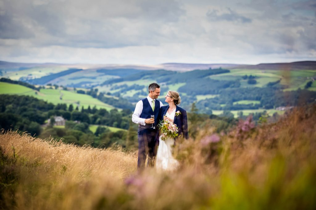 Couple in front of a fabulous Yorkshire view