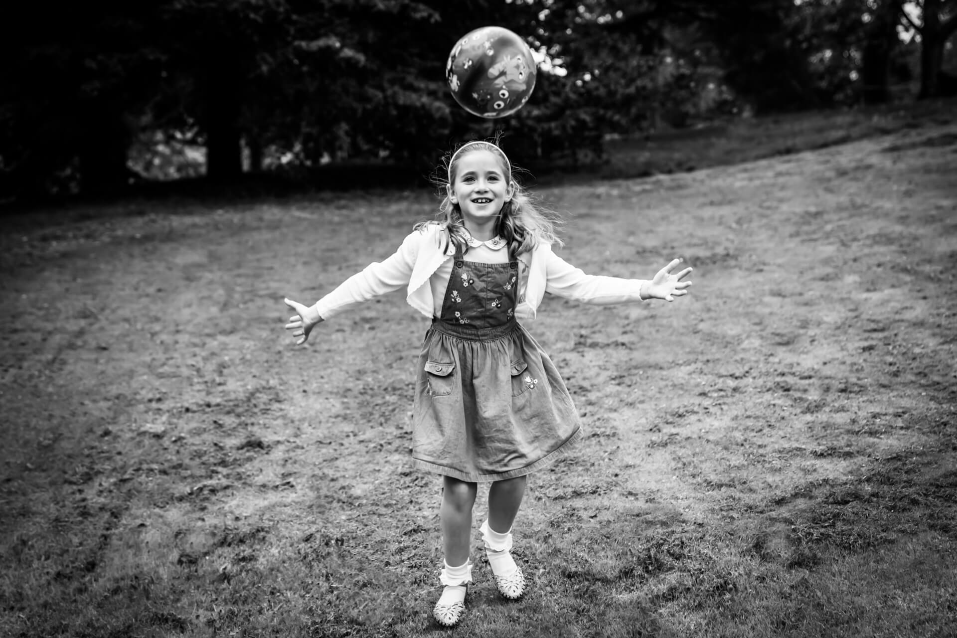 girl throwing a ball