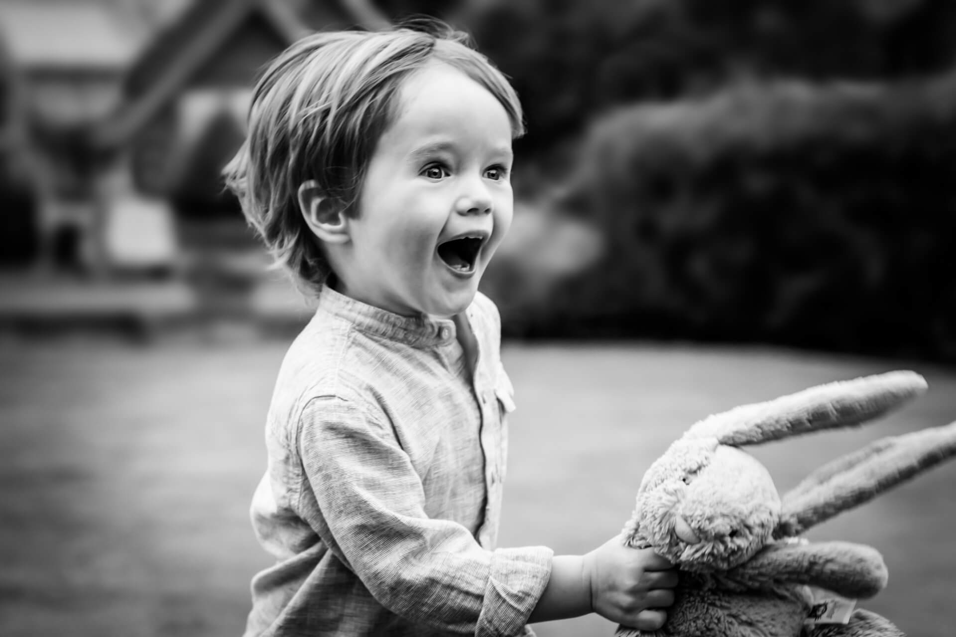 yorkshire portrait photographer - small boy running and laughing