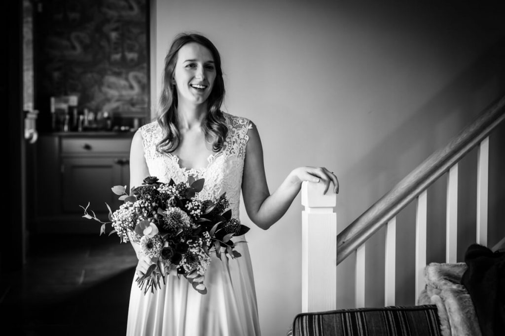 bride in the bridal suite at telfit farm