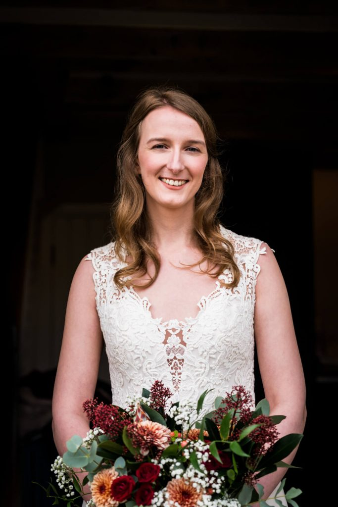 portrait of the bride at telfit farm