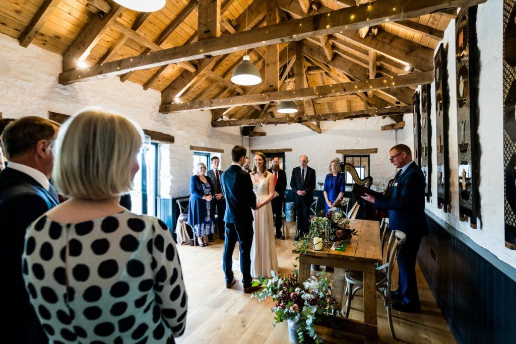 telfit farm wedding ceremony