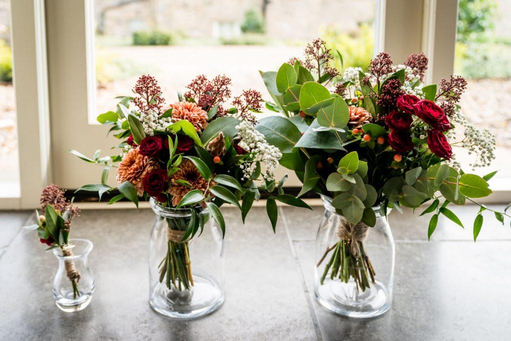 wedding flowers at telfit farm