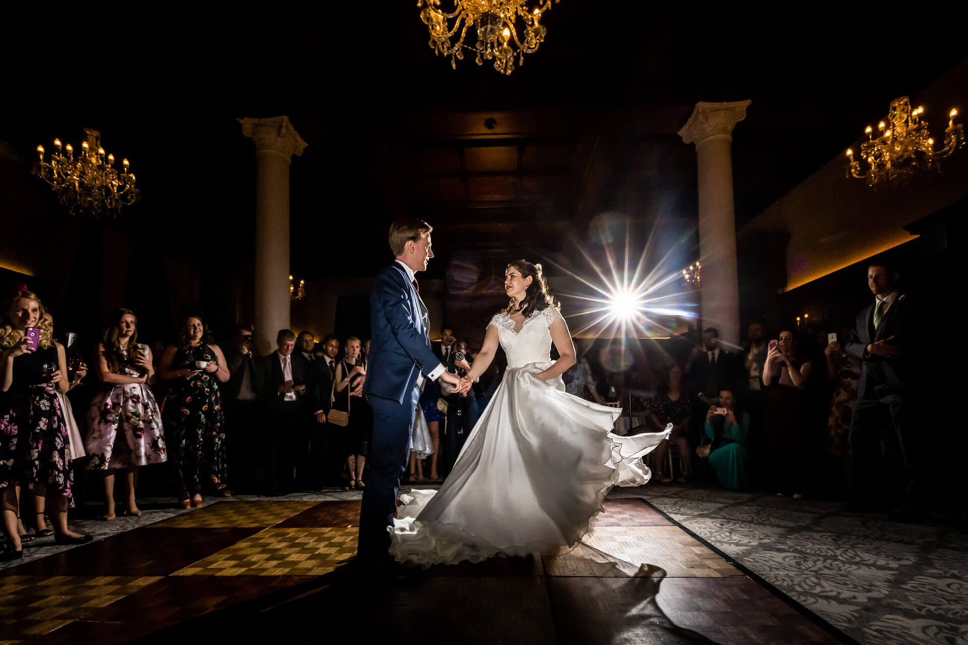 bride and grooms first dance at the principal hotel in york