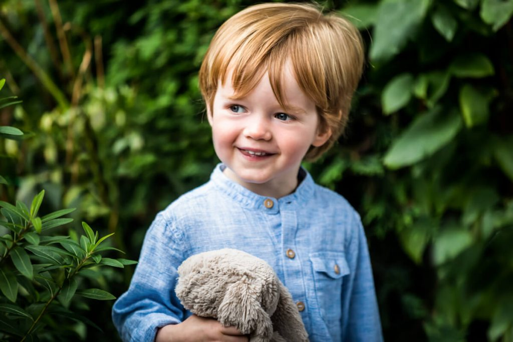 portrait of a little boy smiling in yorkshire