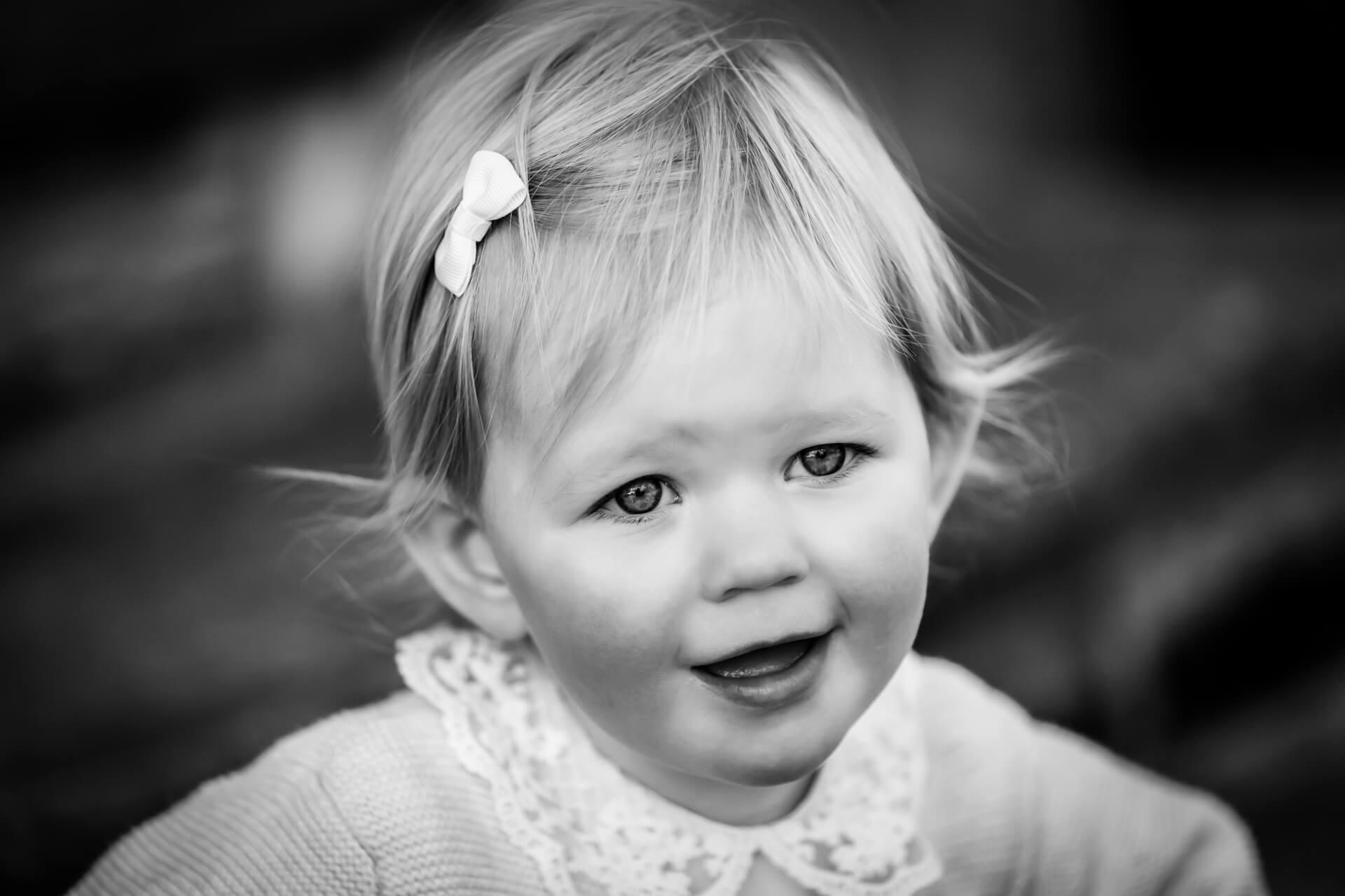 toddler portrait of a little girl in Harrogate