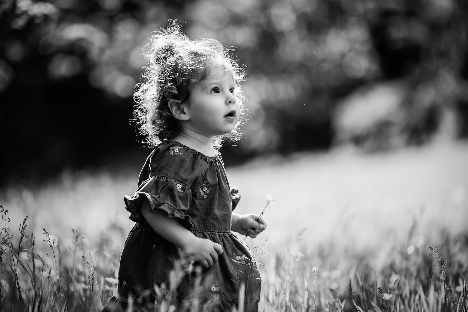 yorkshire family photography - little girl picking flowers