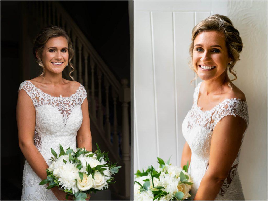 bride standing in a doorway