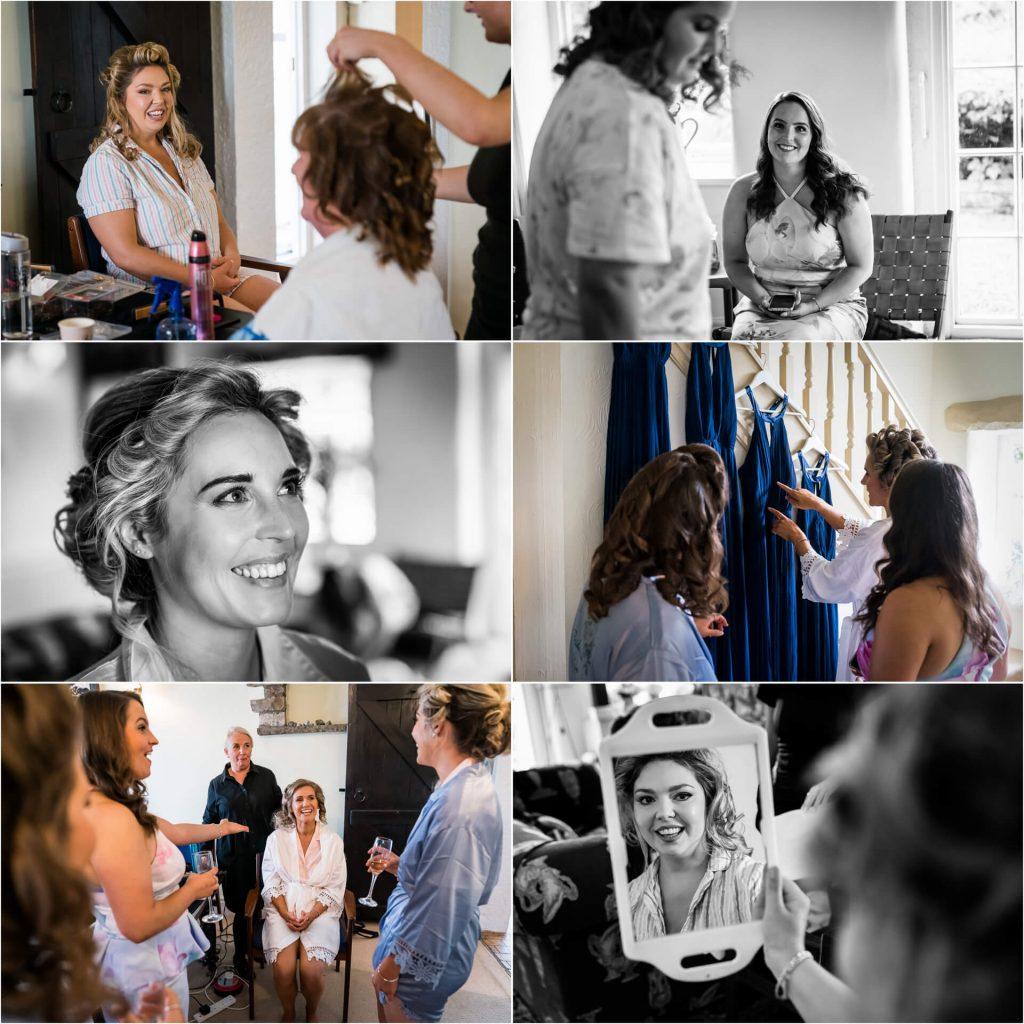 bridal preparations for a Bolton Abbey wedding